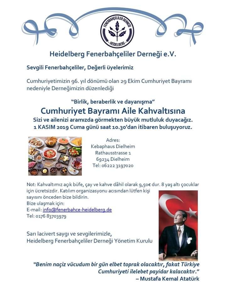 """Frühstück """"Cumhuriyet Bayramı 2019"""""""